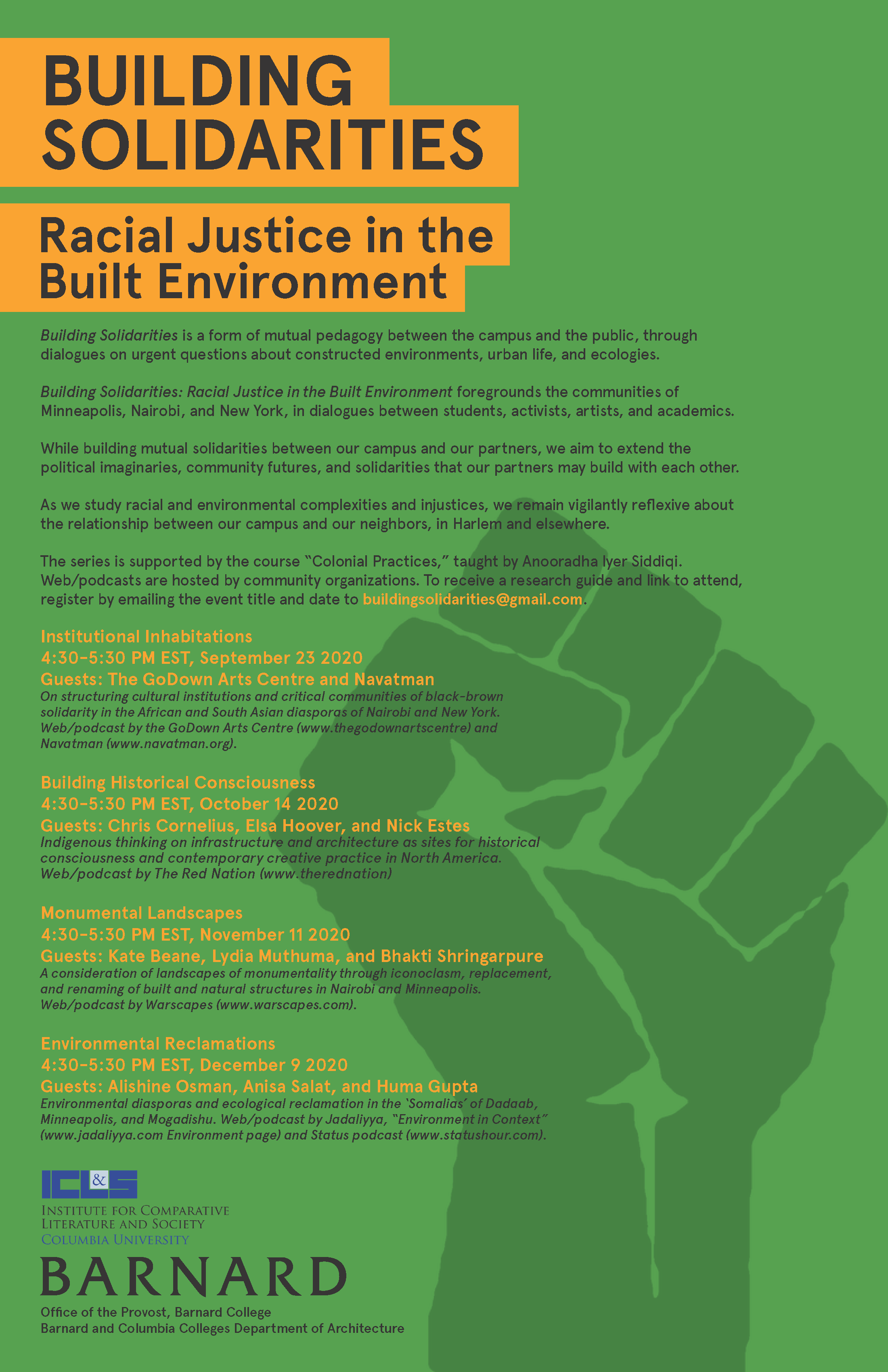 Buildings Solidarities event series flyer